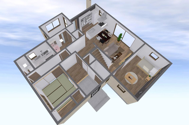 二世帯住宅リノベーションプラン